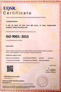 L V Dental Square ISO 9001 certified